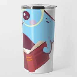 Funny Narwhal with book Shirt - for kids Travel Mug