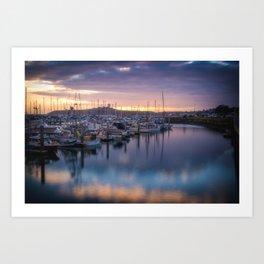 Nature's Hues Sunset at Half Moon Bay Art Print