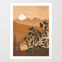 Growth over the high mountain Art Print