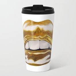 Golden Lips Travel Mug