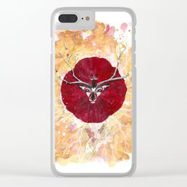 Animal de Amapola Clear iPhone Case