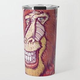 Red Babooin Portrait Travel Mug