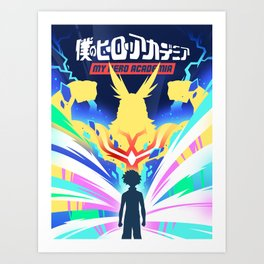 My Hero Academia Poster Design (僕のヒーローアカデミア) Art Print