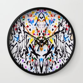 The Garden in Abstract Wall Clock