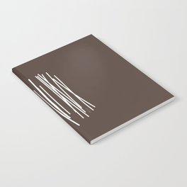 Wood in Brown - Minimalist Feng Shui - by Friztin Notebook