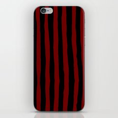 Black and Red Stripes iPhone & iPod Skin