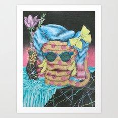 Still Life with Pizza Snake Art Print