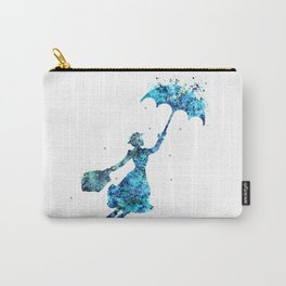 The Magical Nanny - Splashes of Blues Carry-All Pouch