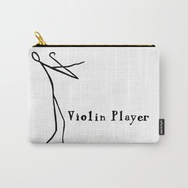 Stick figure playing the violin Carry-All Pouch