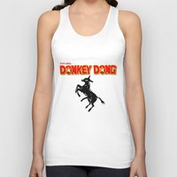 donkey Tank Tops featuring Donkey Dong by Metscha