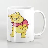 winnie the pooh Mugs featuring Winnie the Pooh by Lozza.