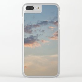 Pastel Sunset Clear iPhone Case