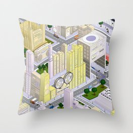 uchi village part 1 Throw Pillow