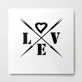 Valentine's day . Love . Metal Print