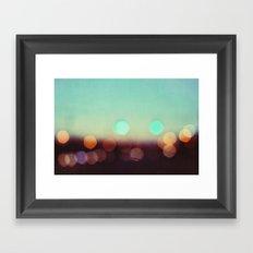 a lover of the light Framed Art Print