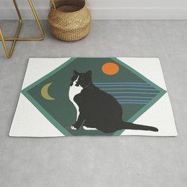 Cat Portrait with 5 Elements Colour Rug
