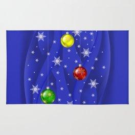 Christmas balls with background Rug