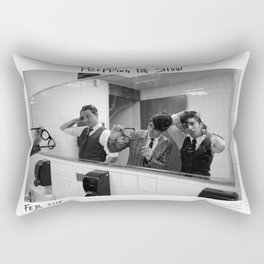 Birds in the Boneyard, Print 5: Prepping for the Show Rectangular Pillow