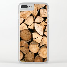 Wood Profile Clear iPhone Case