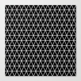 Triangle Black and White Pattern | Minimalism Canvas Print