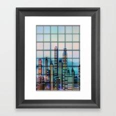 Window City Framed Art Print