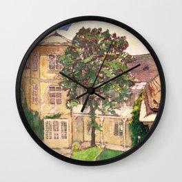 "Koloman (Kolo) Moser ""Flowering chestnut tree"" Wall Clock"