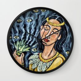 Sweetgrass Smudge * Nature Maiden Wall Clock
