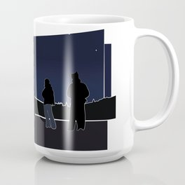 Silhouettes in the Snow Coffee Mug