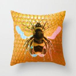 3-Bees Throw Pillow
