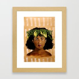 Kowhai Crown Framed Art Print