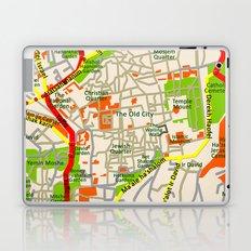 Jerusalem map design Laptop & iPad Skin