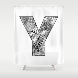 Cutout Letter Y Shower Curtain