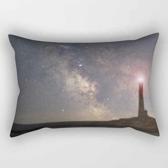 Milkyway over Thacher Island Rectangular Pillow