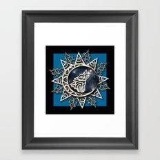 Wolf Emblem Framed Art Print