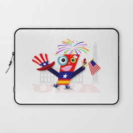 Patriotic Fourth of July Firecracker Laptop Sleeve