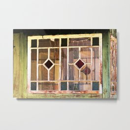 look into the old farmers house Metal Print