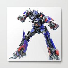 Autobot Transformers Robot Metal Print
