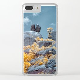 Cracked Big Rock Clear iPhone Case