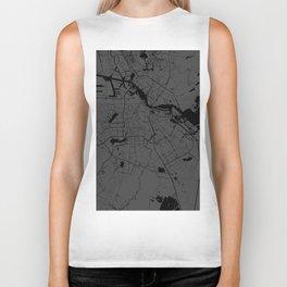 Amsterdam Gray on Black Street Map Biker Tank