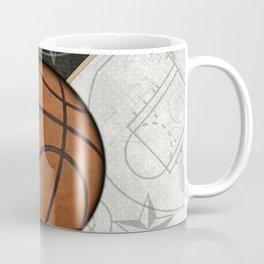 Basketball Stars and Court Team Sports Design Coffee Mug