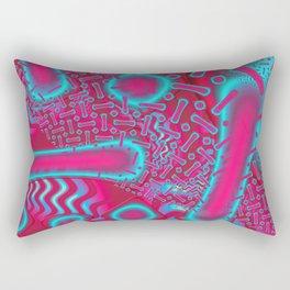RazBerries Psychedelic Fused Glass Fractal Rectangular Pillow