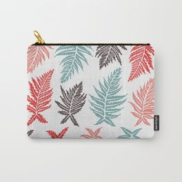 Inked Ferns – Red & Green Palette Carry-All Pouch