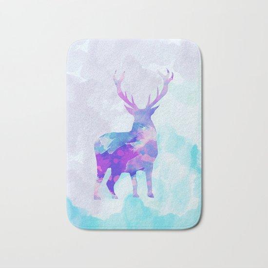 Abstract Deer II Bath Mat