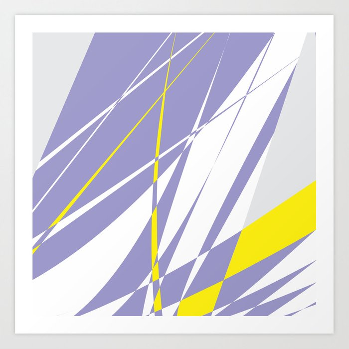 Straight Lines Abstract Art Print By Nksharma