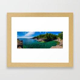 Green Beach Framed Art Print