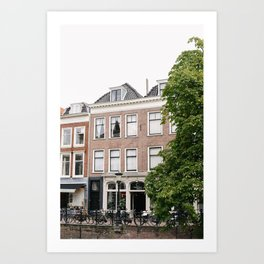 Dutch Canal Houses | City Utrecht | The Netherlands | Europe | Travel Photography | Art Print | Architecture | Buildings | Cityscape  Art Print
