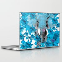 elephant Laptop & iPad Skins featuring Elephant  by Saundra Myles