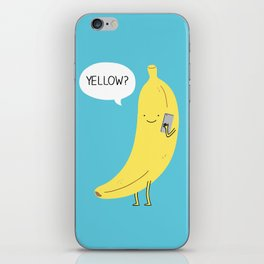 Banana on the phone iPhone Skin