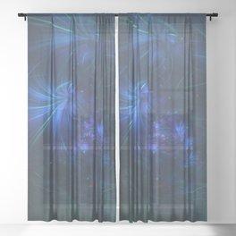 Geometric Cosmic Light 153 Sheer Curtain