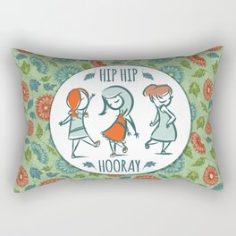 Hip Hip Hooray Rectangular Pillow